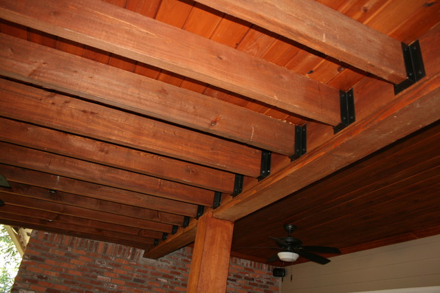 Lean To Roof Traditional Patio New Orleans By