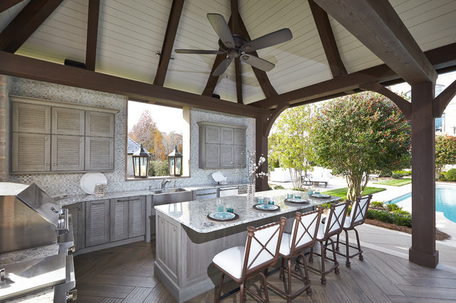 Outdoor Kitchen Pool Cabana - Traditional - Patio - Other ... on Outdoor Kitchen With Pool Ideas id=96175