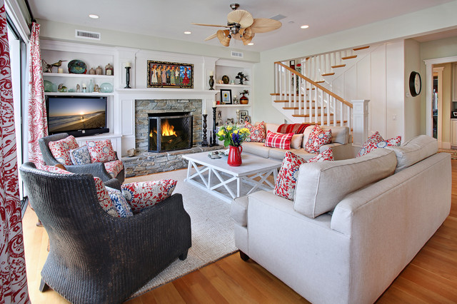San Clemente Remodel beach-style-living-room