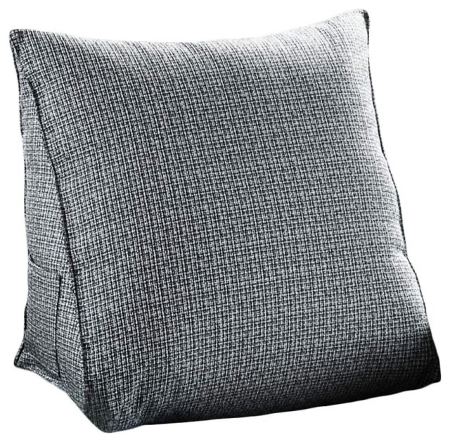 back rest wedge pillow sofa relax pillow chair bed back support pillow gray