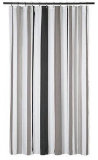 extra long shower curtain 72 x 78 gamma gray and taupe stripes fabric
