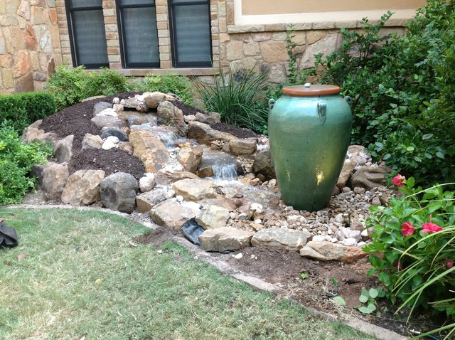Christa's Front Yard Waterfall and Bubbling Urn Water ... on Front Yard Waterfall Ideas id=90018