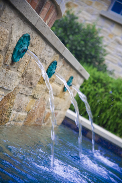 Bronze Pool Fountain Traditional Pool Austin By