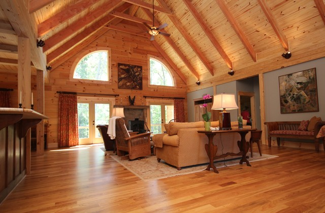 MONTPELIER LOG CABIN Rustic Living Room Richmond