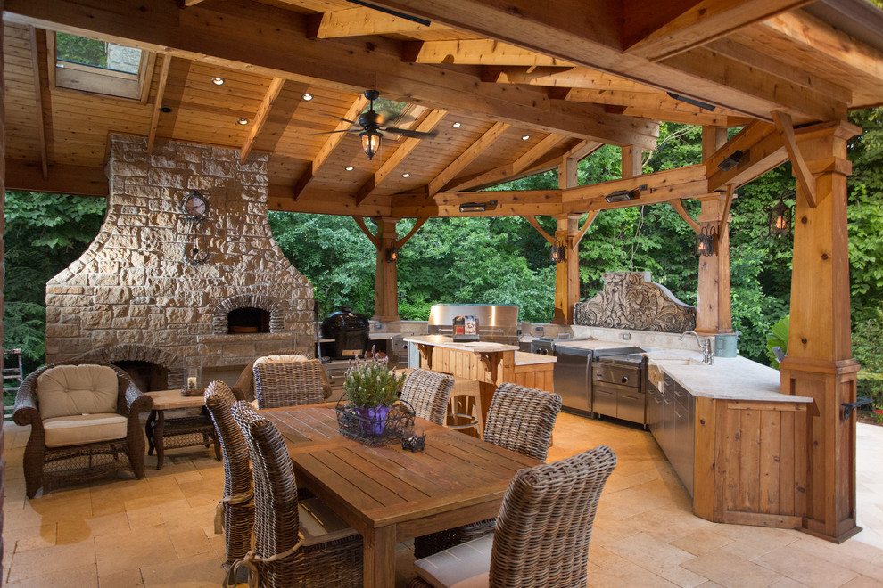 Hinsdale Realtor Luxury Custom Outdoor Kitchen ... on Patio Kitchen  id=94755