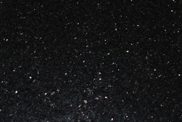 black galaxy granite tiles polished finish 4 x4 sample