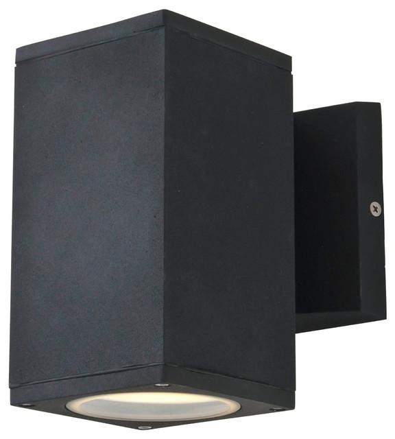 Outdoor Sconce, Matte Black - Modern - Outdoor Wall Lights ... on Modern Outdoor Sconce Lights id=88019