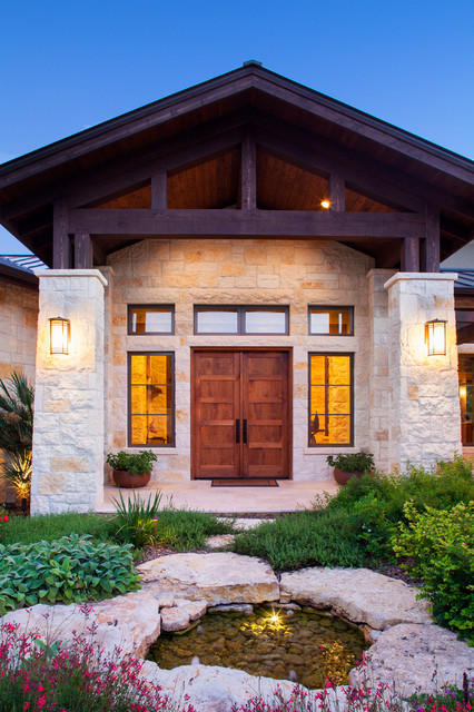 Hill Country Custom Home Rustic Entry Austin By