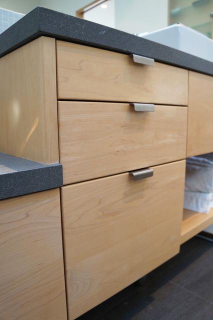 modern maple vanity - Modern - Bathroom - San Francisco ... on Bathroom Ideas With Maple Cabinets  id=25007