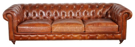Pasargad Genuine Leather Chester Bay Tufted Sofa   Traditional     Pasargad Genuine Leather Chester Bay Tufted Sofa