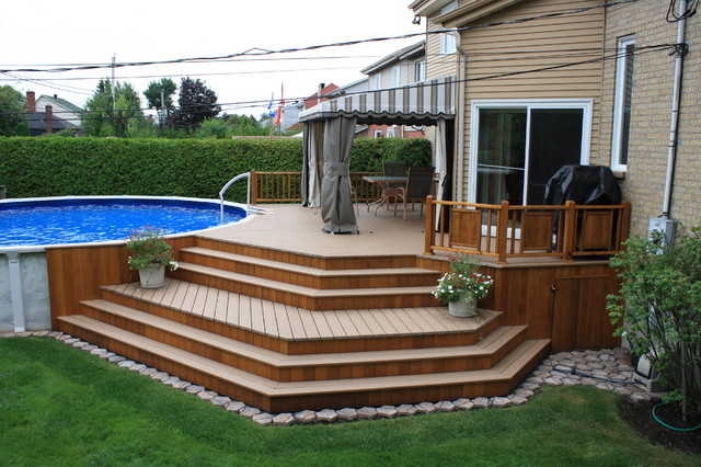 Traditional Deck - Traditional - Deck - Montreal on Pool Deck Patio Ideas  id=46055