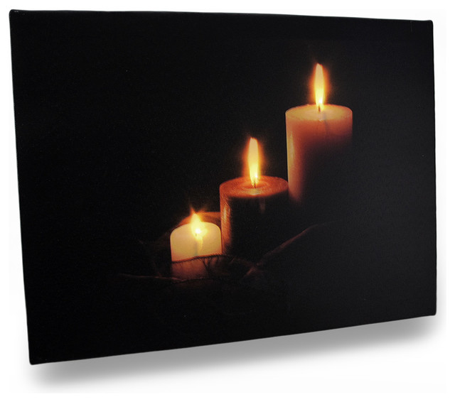 Flickering Candle Canvas