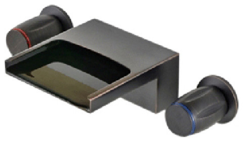 mina dark oil rubbed bronze wall mounted faucet