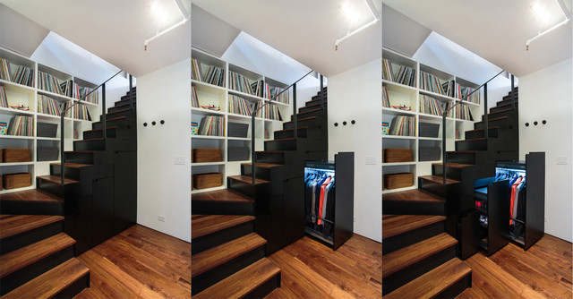 NoHo Duplex Contemporary Staircase New York By