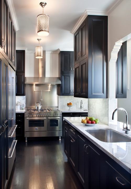 2 matching ends instead of a flush skin go with matching panels for your cabinet ends like decorative legs they have a furniture style look