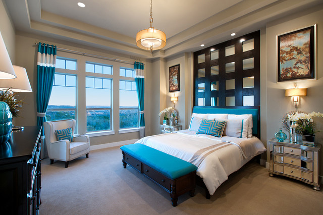 teal bedroom | houzz