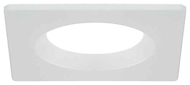 4 pack white square recessed light trim