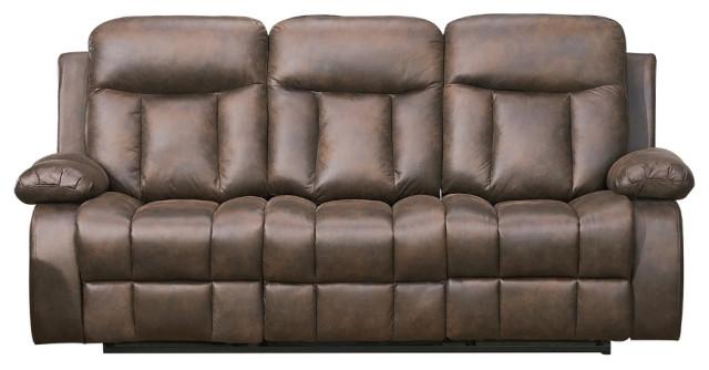 betsy furniture microfiber reclining sofa brown