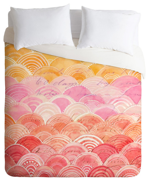 Deny Designs Cori Dantini Warm Spectrum Rainbow Duvet Cover - Lightweight