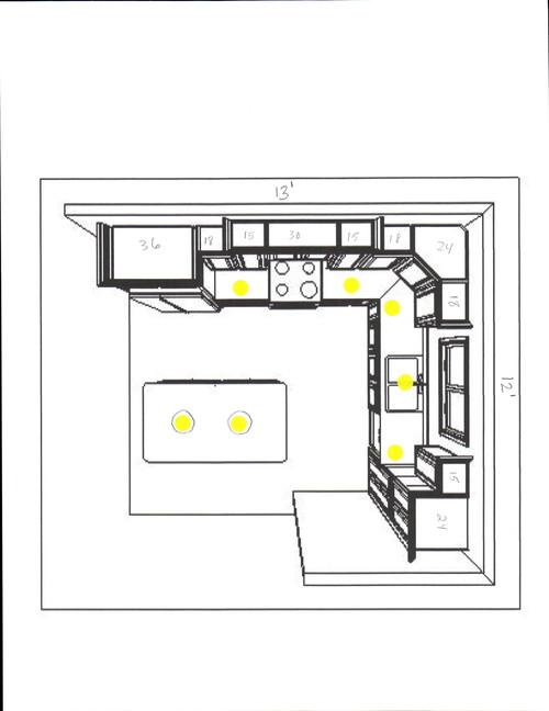 Recessed lighting layout kitchen Kitchen recessed lighting design guide