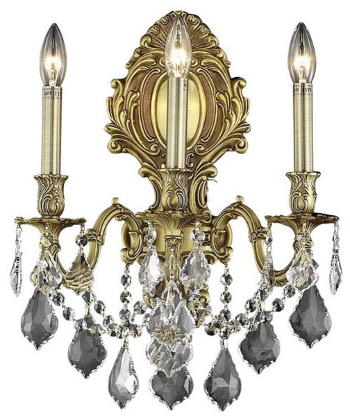 Elegant Lighting Monarch 9603W14PW/EC Wall Sconce, French ... on Victorian Wall Sconces id=20405