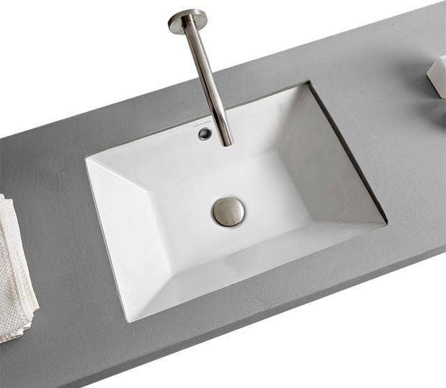small rectangular bathroom sink