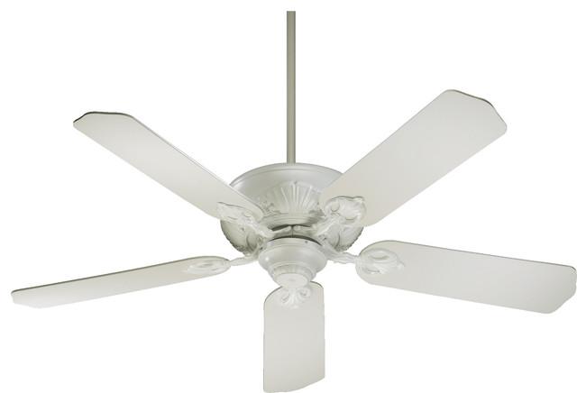 52 5 blade chateaux ceiling fan studio white