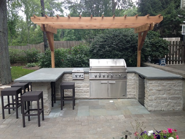 Built-In BBQ Grill Surround - Contemporary - Patio ... on Patio Grilling Area  id=70369