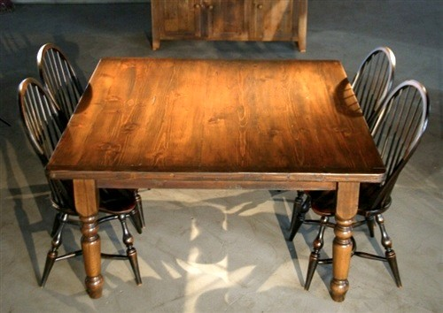 Rustic Square Kitchen Table