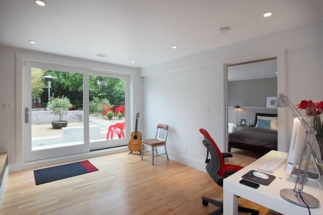 Garage Master Suite Modern Bedroom