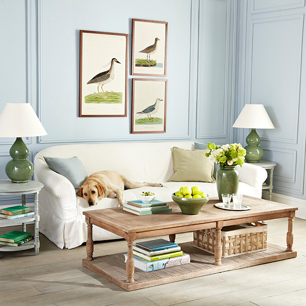 six baluster coffee table - traditional - family room - dallas -