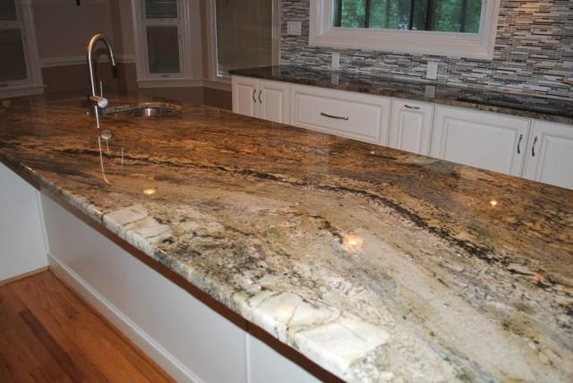 Kitchen Remodel with Maple Villa Antique White Cabinets ... on Maple Cabinets With White Granite Countertops  id=96253