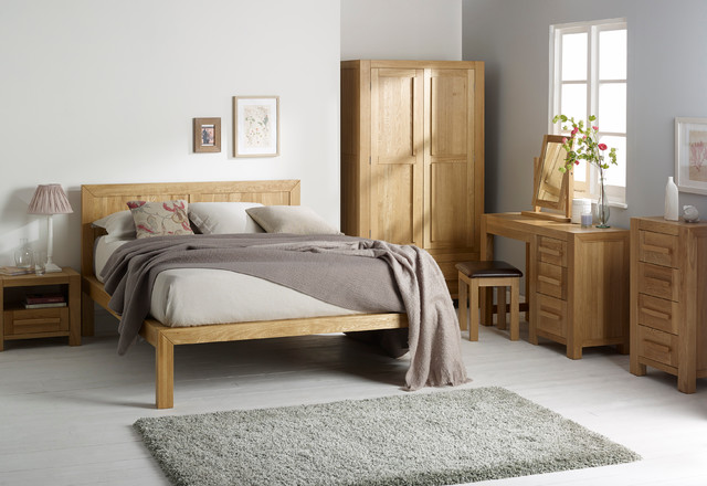 fresco - natural solid oak bedroom - scandinavian - bedroom
