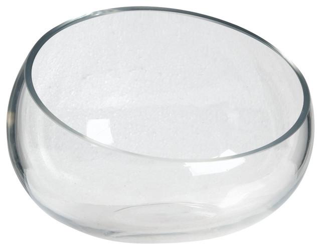 Brown Speckled Glazed Oblong Decorative Bowl