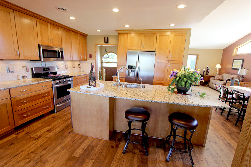 Kitchen Expansion with Maple Cabinets and Granite ... on Kitchen Countertops With Maple Cabinets  id=90639