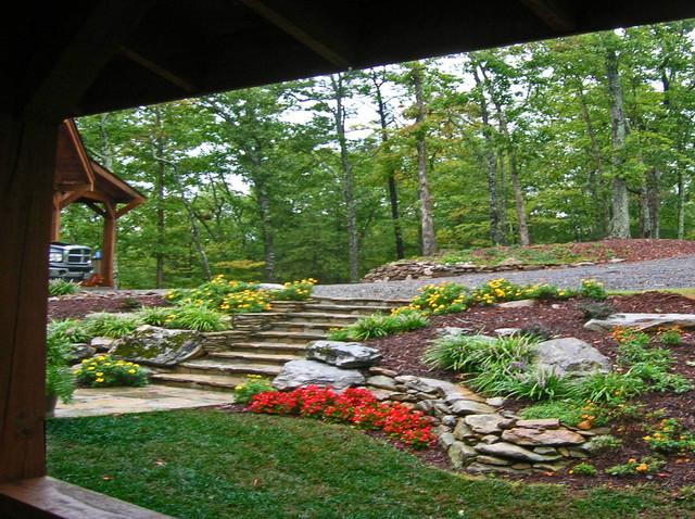 Hilltop Mountain House - Asheville NC - Landscape ... on Mountain Backyard Ideas id=37765