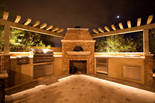 Outdoor Hip Roof Wood Fired Pizza Ovens - Mediterranean ... on Outdoor Patio With Pizza Oven  id=43362