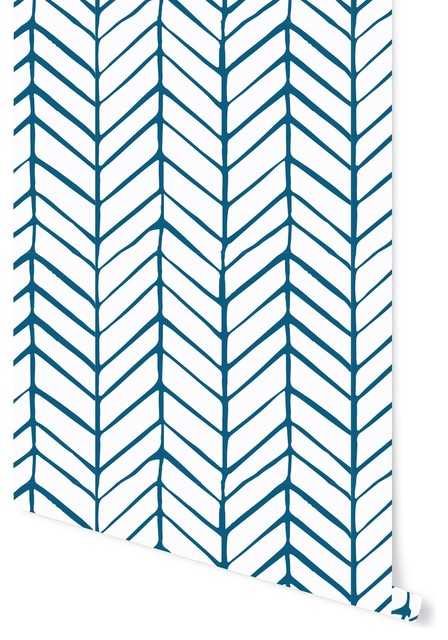 peel stick removable wallpaper herringbone 24x108