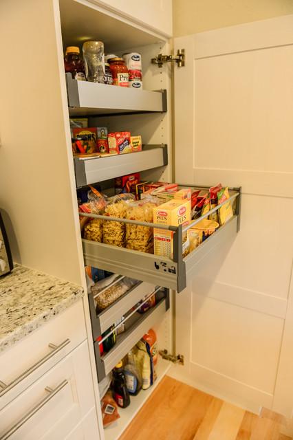 Ramsjo White Cabinets Wolf Range Contemporary Kitchen