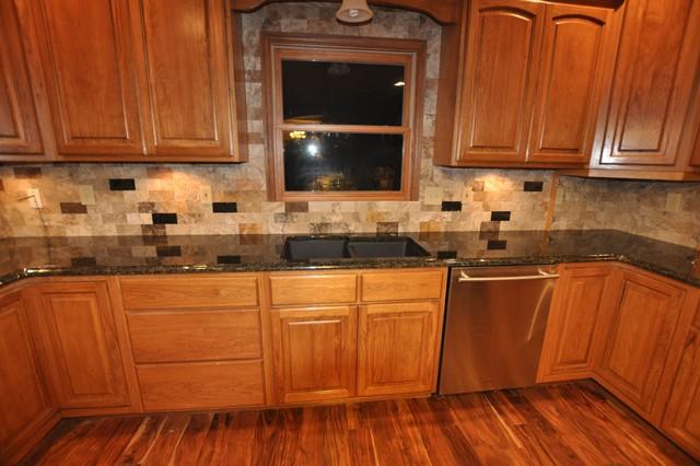 Granite Countertops and Tile Backsplash Ideas - Eclectic ... on Best Backsplash For Granite Countertops  id=50890