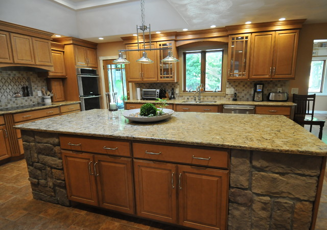 Honey Maple Glaze - Traditional - Kitchen - New York - by ... on Maple Cabinet Kitchen Ideas  id=19588