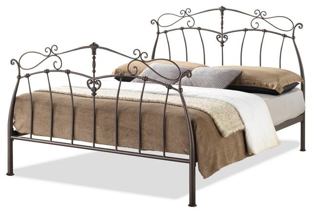 Selena Full Size Antique Bronze Metal Platform Bed