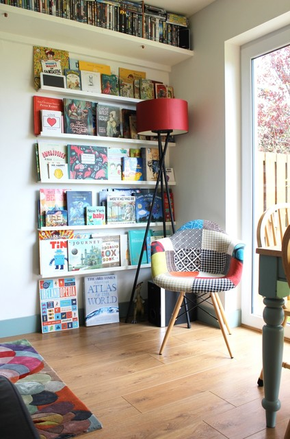 Mini Library eclectic-living-room