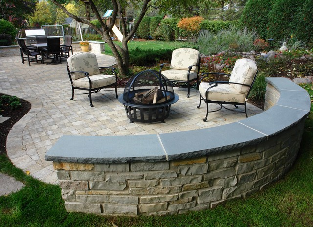 Outdoor Patio, Built-In-Grill, Seatwalls, & Water Feature ... on Outdoor Grill Patio id=43934