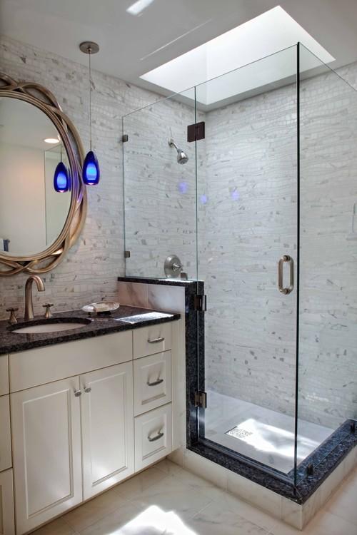 Bathroom Shower Knee Wall Bathroom Design