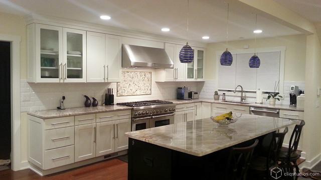 Houzz White Kitchen Cabinets