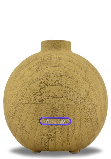 LEO Essential Oil Aromatherapy Ultrasonic Diffuser With Bamboo Finish Contemporary Home