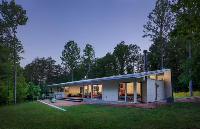 Dog Trot House Charlottesville VA Modern Exterior