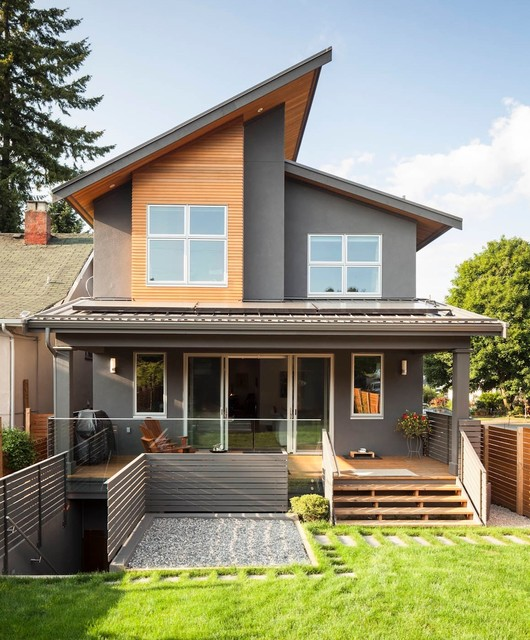 Magnusson Residence - Contemporary - Exterior - Vancouver ... on Modern House Siding Ideas  id=69517