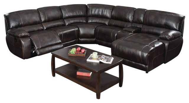 christopher reclining sectional with right facing chaise